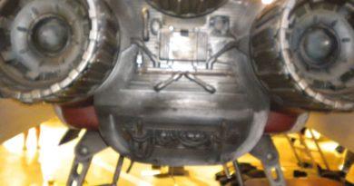 Aft engine access panels.